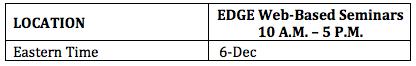 EDGE Seminars