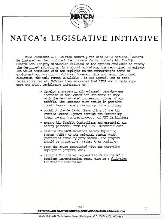 NATCAs Legislative Initiative