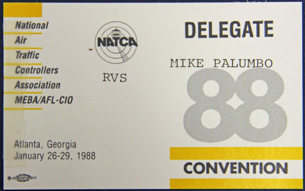 19880126CONV Delegate Badge