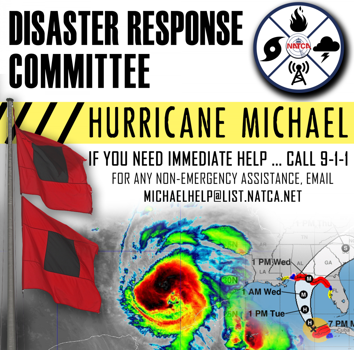 Hurricane Michael Help Graphic