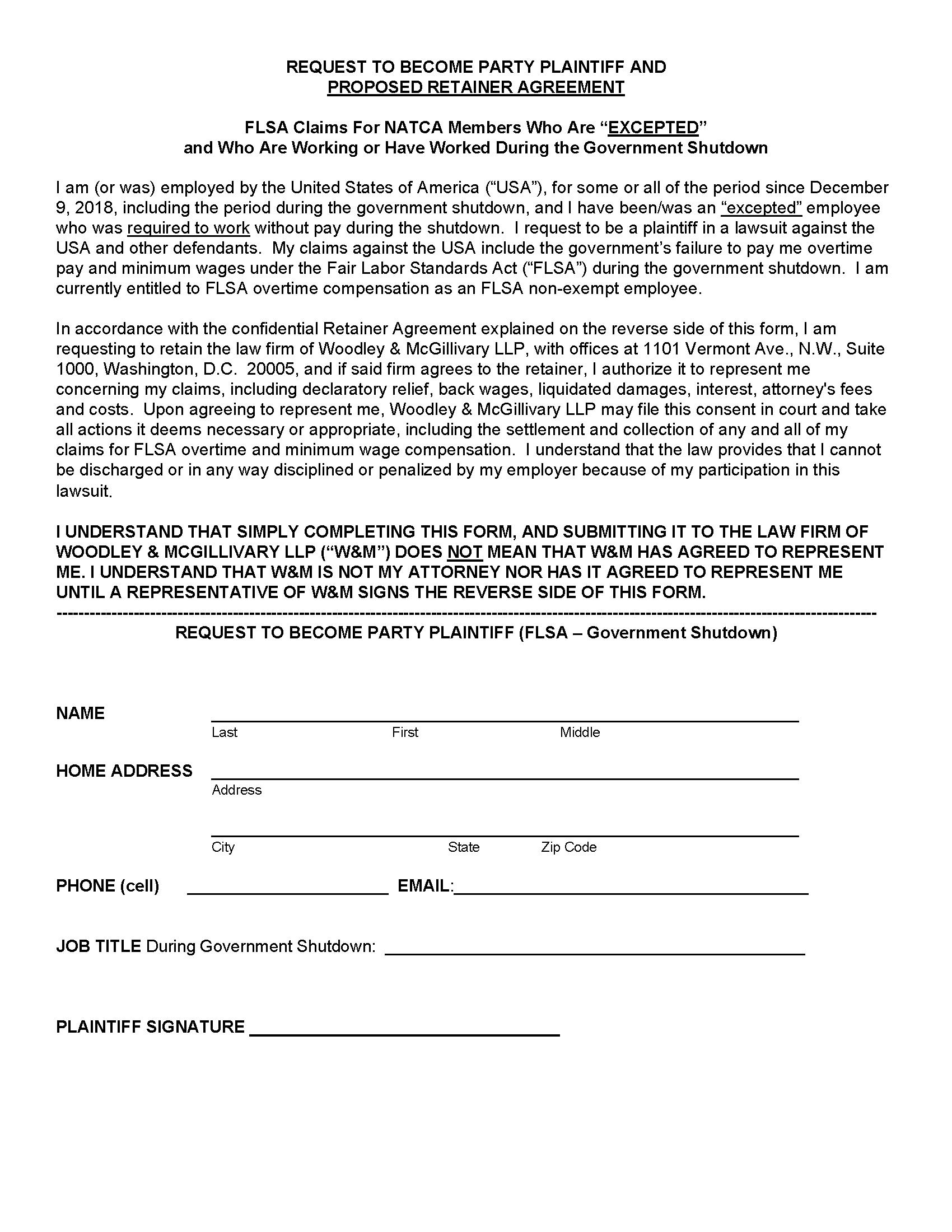 56659 NATCA Government Shutdown Consent Signoff1 Page 1