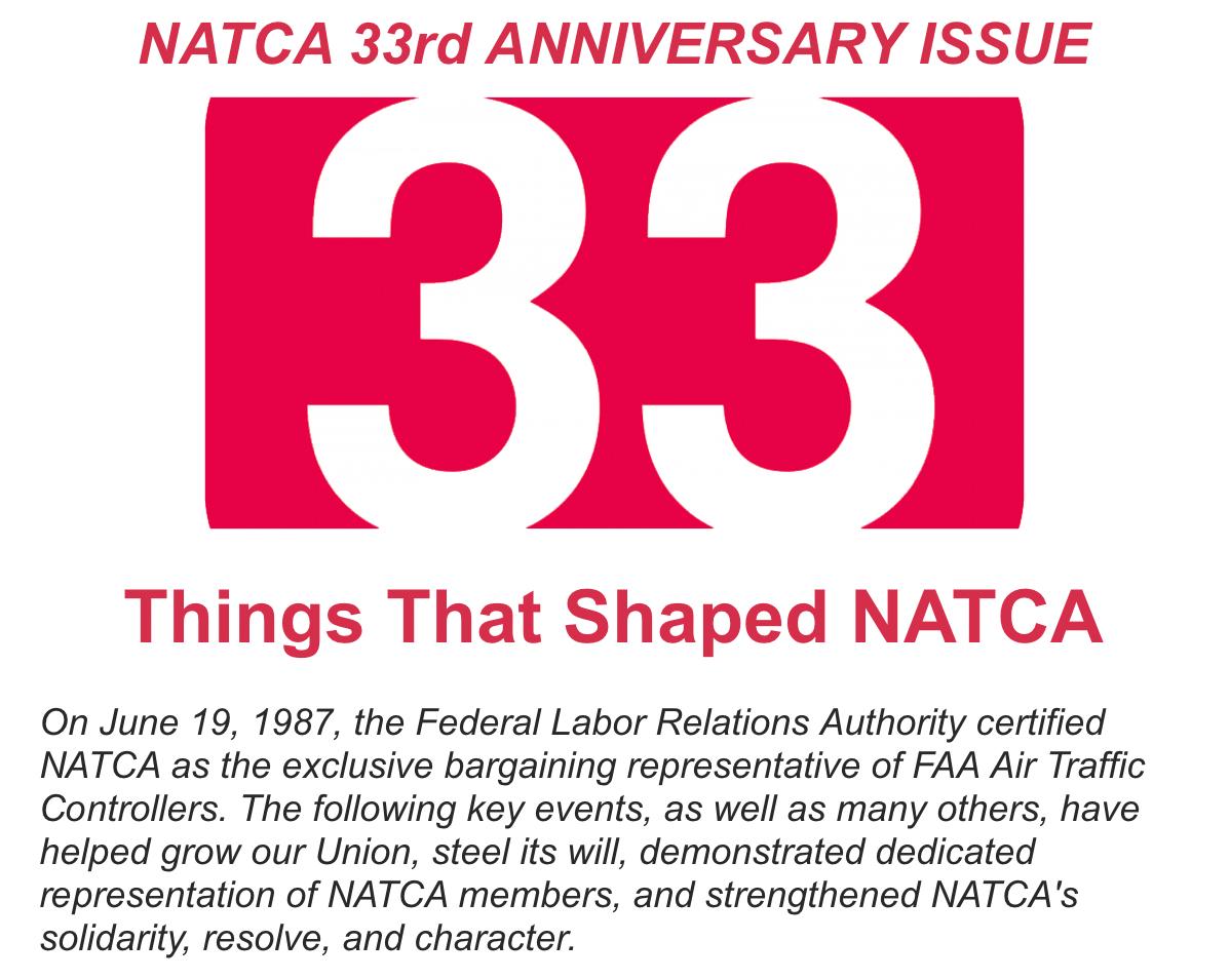 NATCA 33rd Anniversary Issue:
