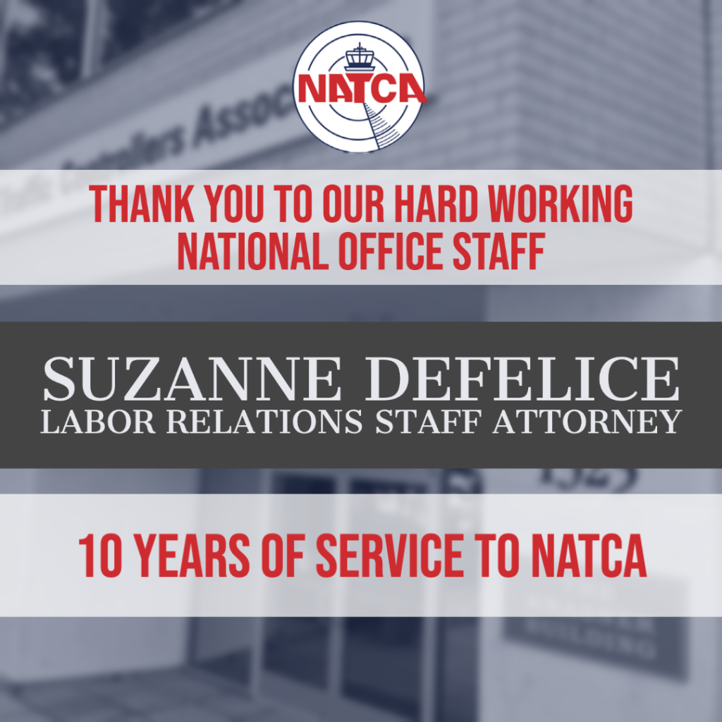 National Office Staff Employee Spotlight: Suzanne DeFelice, Labor Relations Staff Attorney