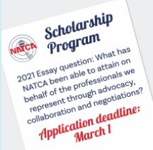 March 1 Deadline for NATCA Scholarship